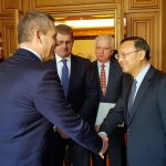 Peter Pellegrini a Peter Kažimír na návšteve Číny