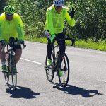 Richard Raši na bicykli v rámci osvetového podujatia