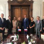 Richard Raši na stretnutí s Klárou Dostálovou v Prahe