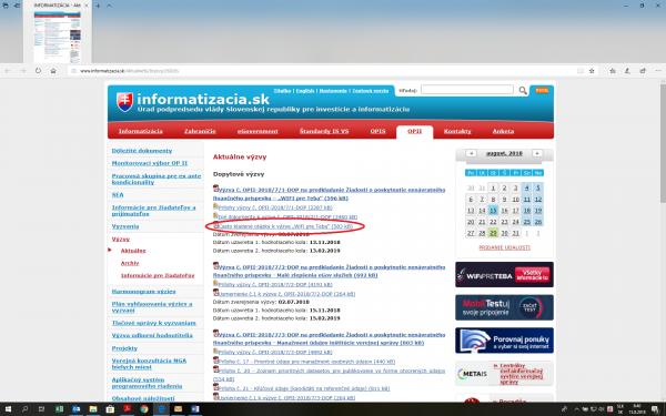 Obrázok web stránky informatizacia.sk