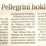 Fahd, Pellegrini hold talks