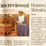 Oman-Slovakia ties reviewed. Honorary consulate of Slovakia opens in Bousher