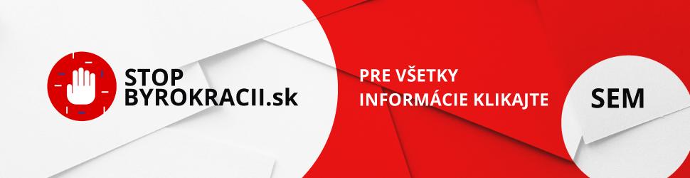 Nové okno: stopbyrokracii.sk
