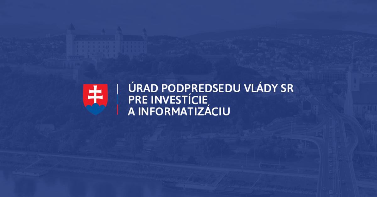 bc8e41bea Úrad podpredsedu vlády SR pre investície a informatizáciu