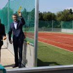 Peter Pellegrini na športovom ihrisku v rámci výjazdu vlády v Trebišove