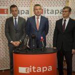 Tomáš Drucker, Peter Pellegrini a Dušan Chrenek