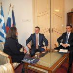Peter Pellegrini na stretnutí s Mariou-Louisu Marinakis