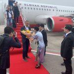 oficiálne privítanie slovenskej delegácie po prílete do Číny