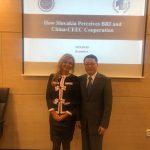 Čínsky veľvyslanec na Slovensku Lin Lin a Denisa Žiláková