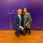 Richard Raši a študentka Natália Turčinová v Šanghaji