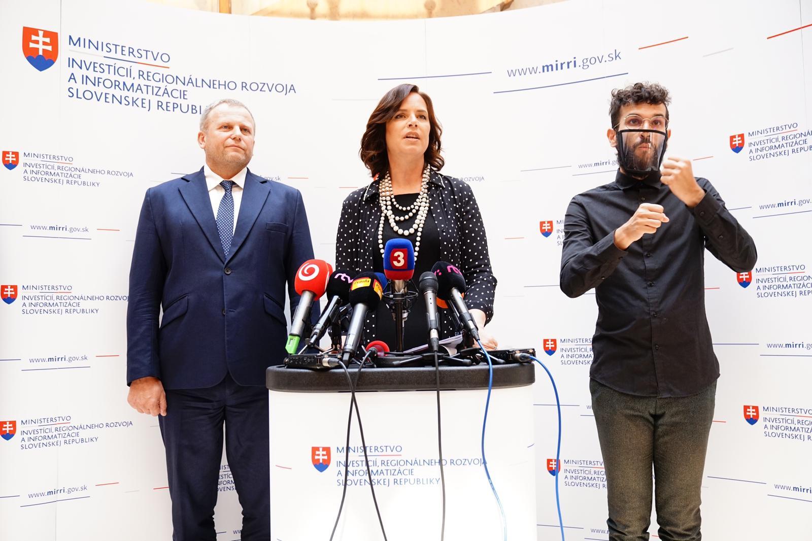 Vicepremiérka Remišová: 1,1 milióna eur na pomoc mimovládnym organizáciám v boji s COVID–19