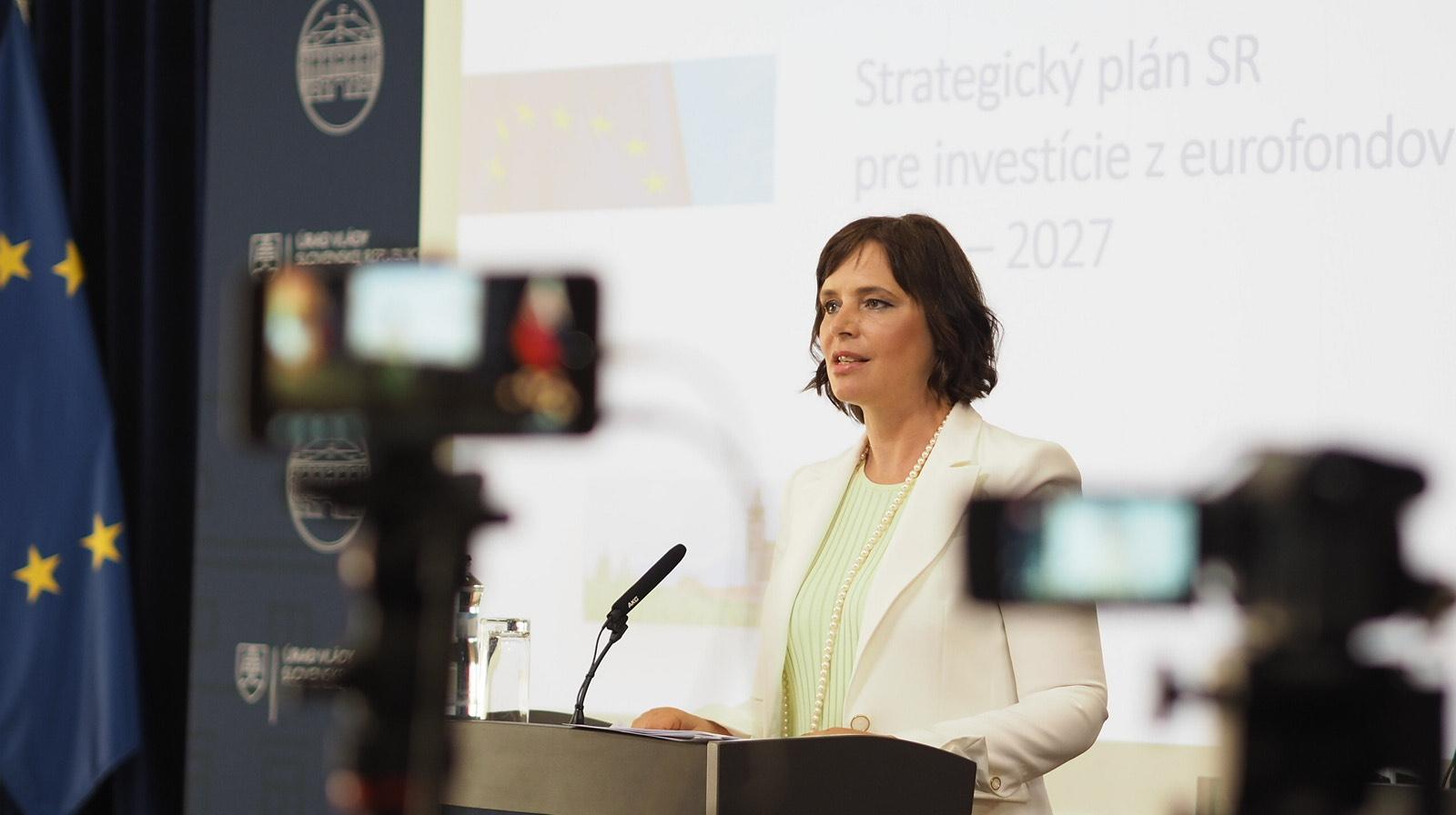Vicepremiérka Remišová predstavila strategický plán pre investície z eurofondov