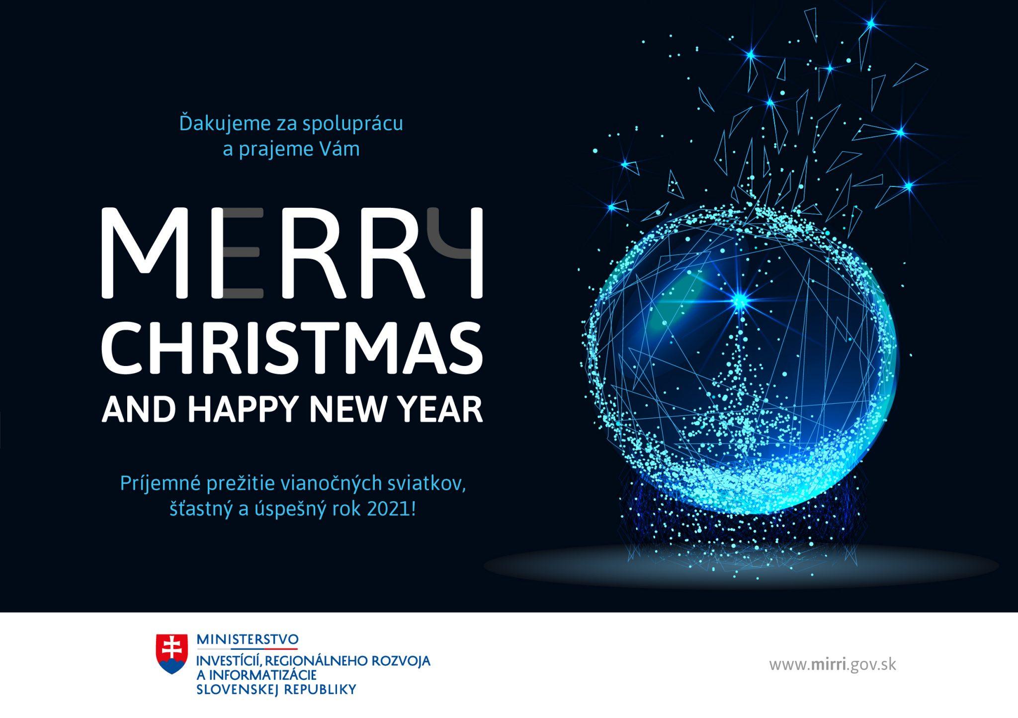Želáme krásne Vianoce a šťastný a zdravý rok 2021!