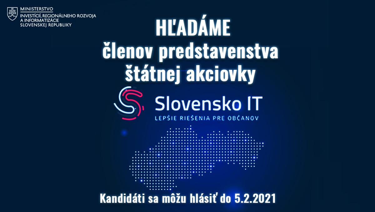 Ministerka Remišová: Pokračujeme v transparentnom obsadzovaní IT pozícií, hľadáme dvoch členov predstavenstva Slovensko IT
