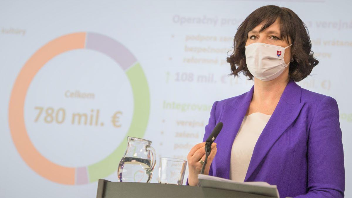 Vicepremiérka Remišová: Návrh na rozdelenie 780 miliónov eur z REACT-EU je hotový