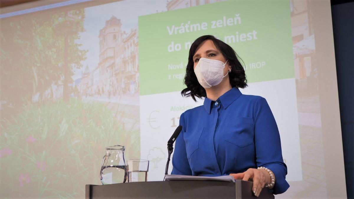 Vicepremiérka Remišová: Na vrátenie zelene do našich miest investujeme 17 miliónov eur