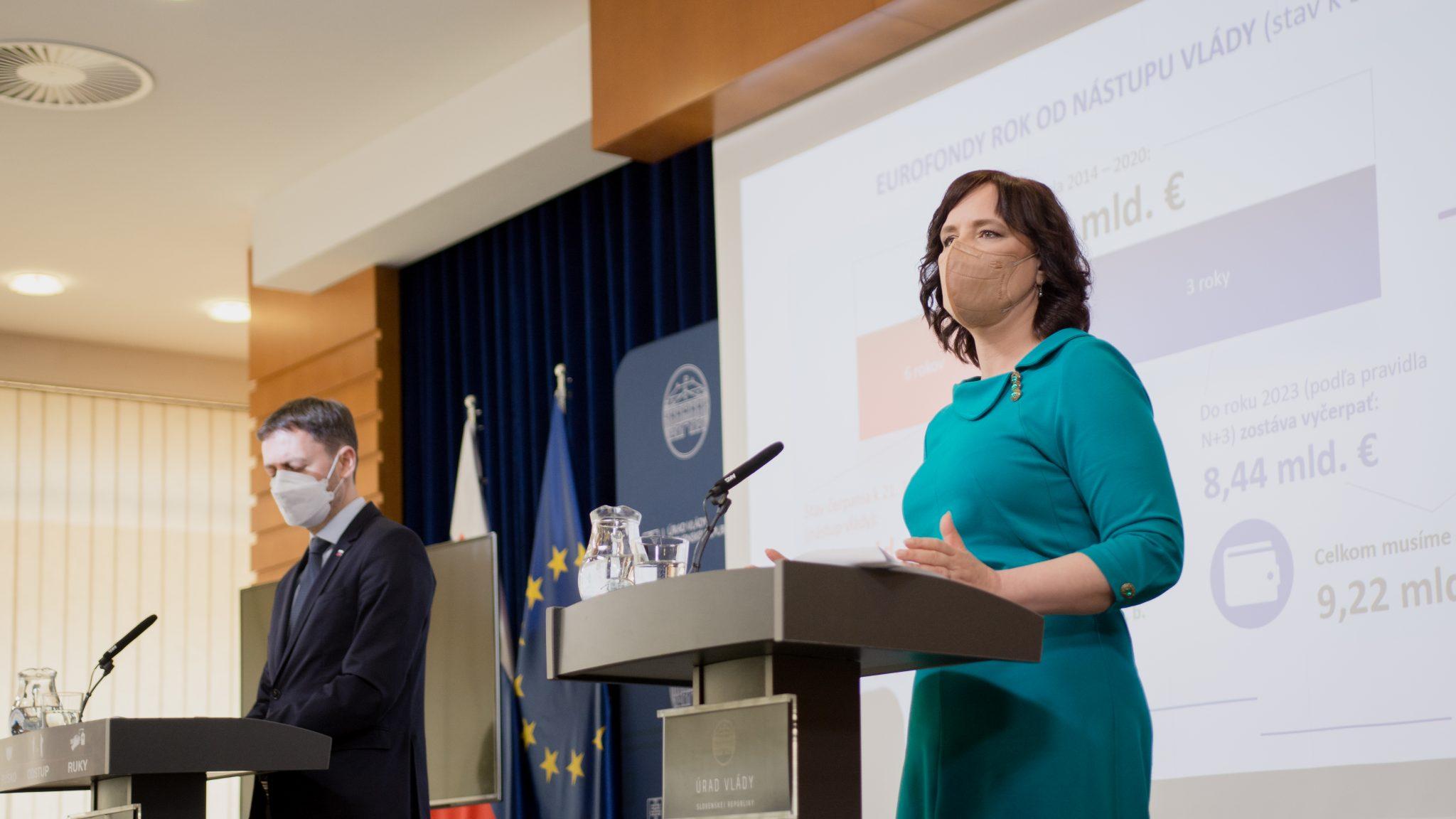 Vicepremiérka Remišová o eurofondoch: Čo sa za 7 rokov zmeškalo, musíme dohnať za 3 roky