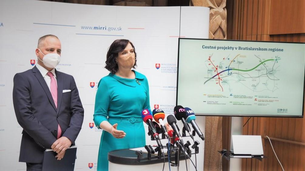 Vicepremiérka Remišová: Dobrá správa pre okolie Bratislavy, rýchlejšie pripojenie na diaľnicu sme schválili v rekordne krátkom čase