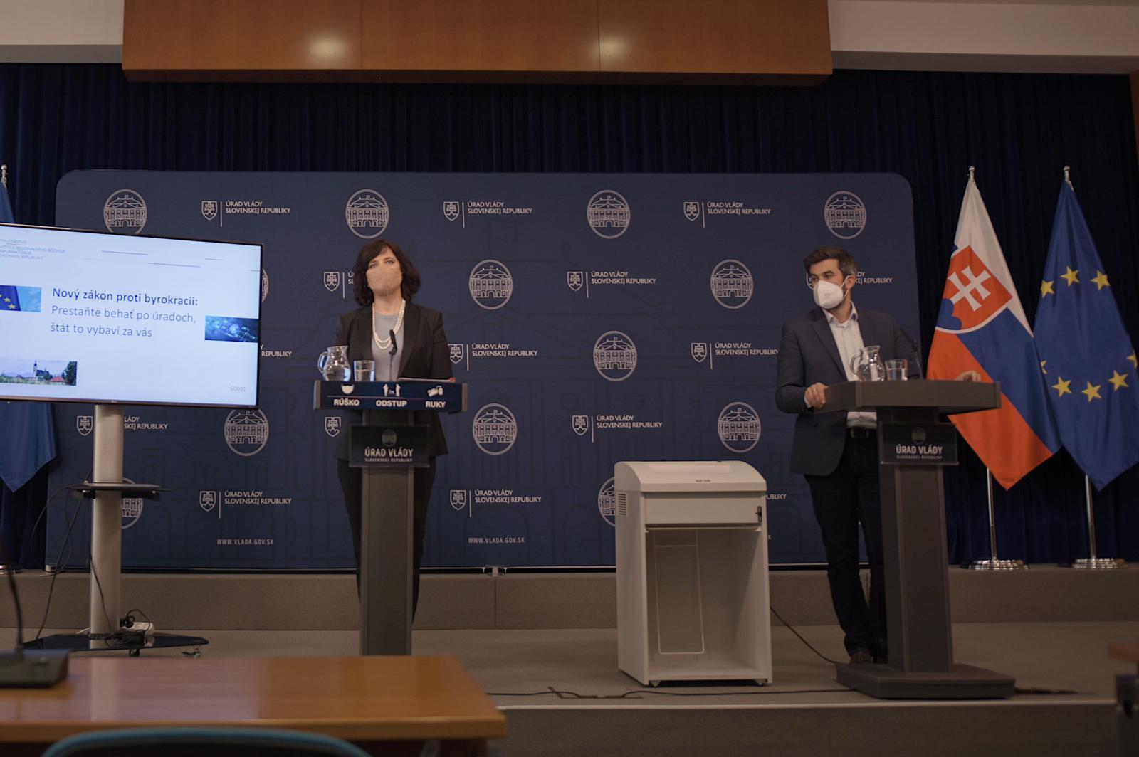 Ministerka Remišová: Náš nový zákon proti byrokracii ľuďom ušetrí 100 kíl nervov a 42 miliónov eur ročne