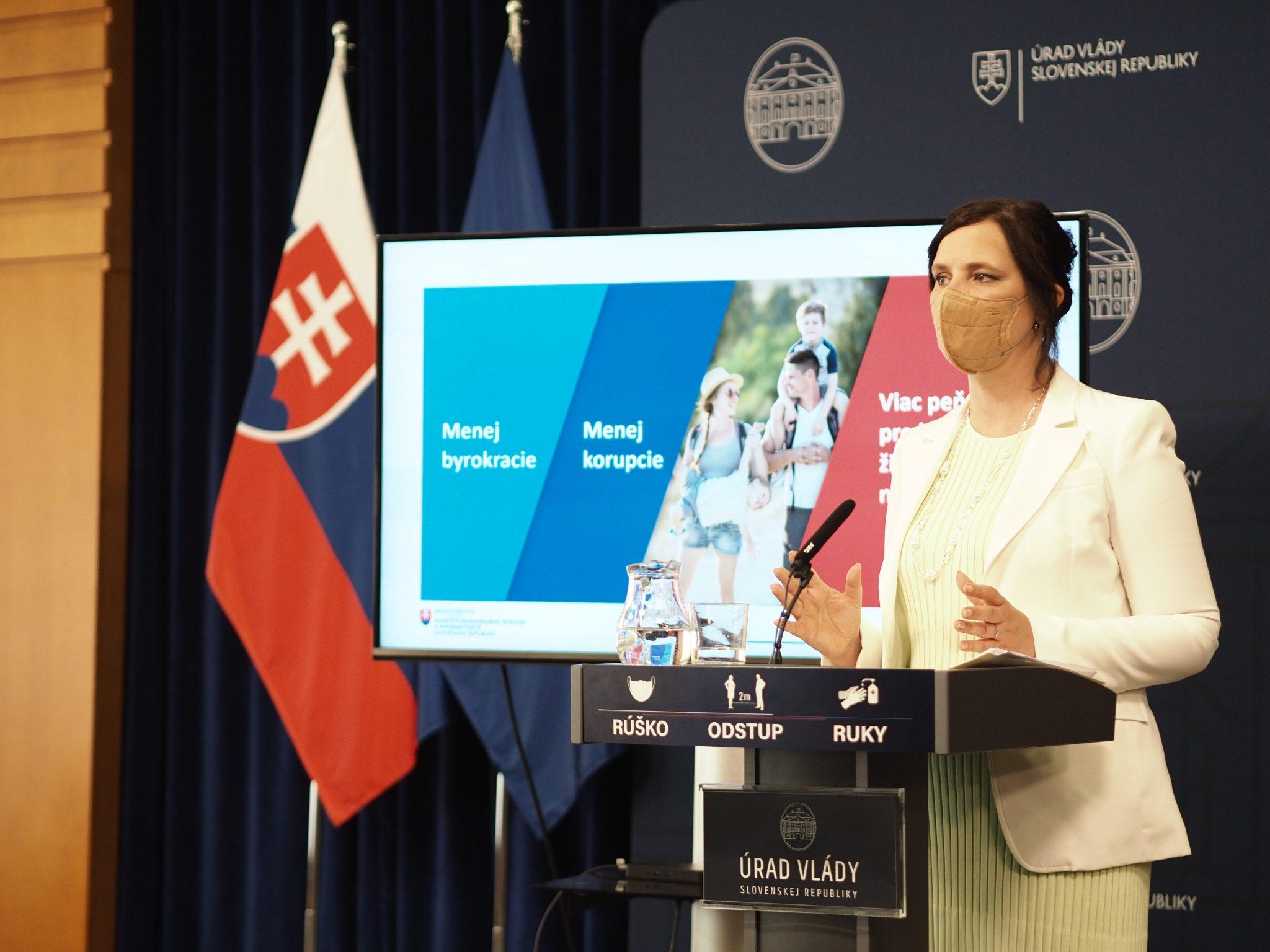 Vicepremiérka Remišová: Reforma eurofondov pokračuje! 5. antibyrokratický balíček prináša jednoduchšie a jasnejšie pravidlá