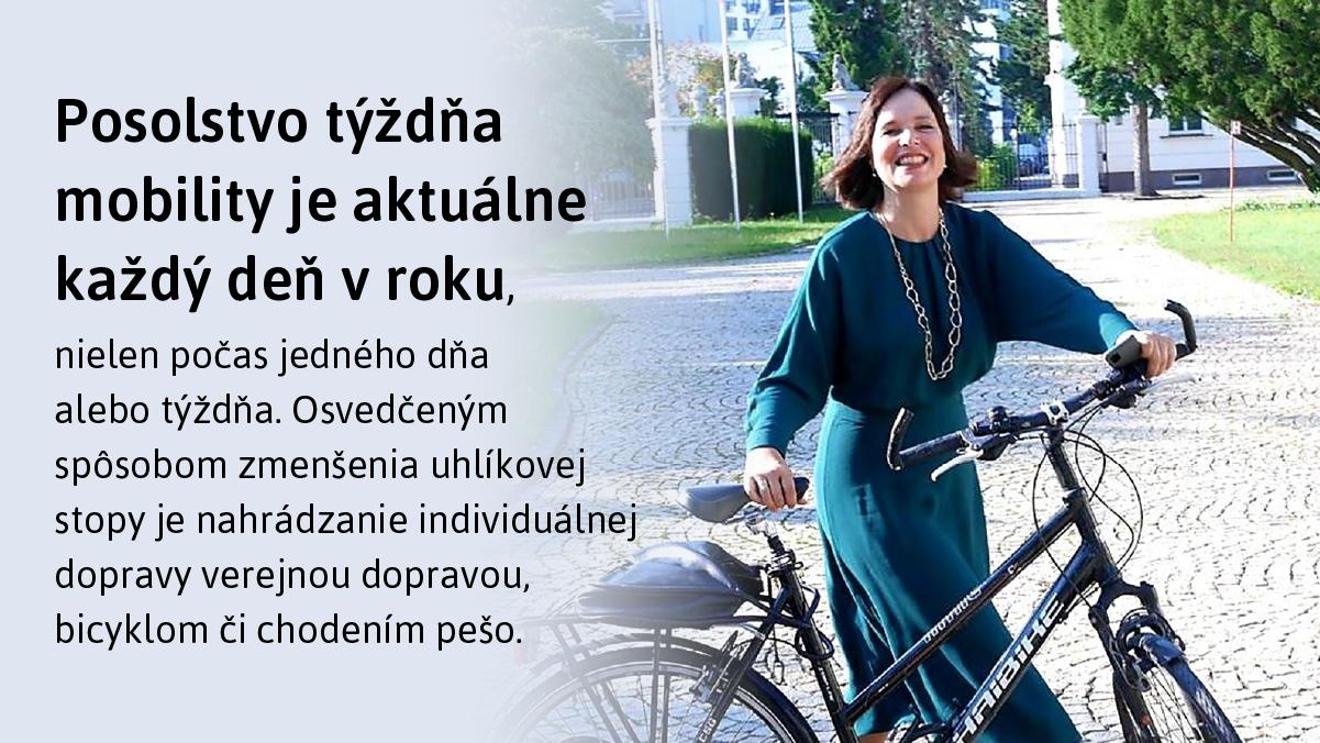 Veronika Remišová: Posolstvo Európskeho týždňa mobility je aktuálne po celý rok, preto podporujeme ekologickú dopravu v regiónoch