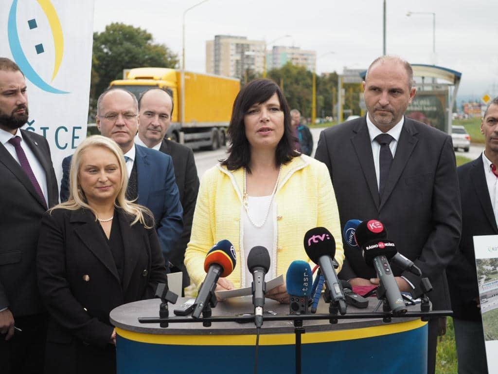 Vicepremiérka Remišová: Slanecká cesta v Košiciach sa vďaka eurofondom zmení na modernú štvorprúdovku